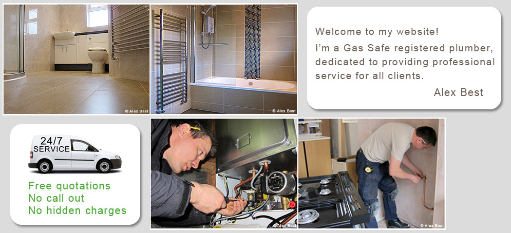 Alex Best Gas Safe Plumber, specialising in boiler and bathroom installations, boiler repair, service and tiling. I work in Hampshire, Dorset. Southampton, Winchester, poole, Bournemouth, Ringwood.
